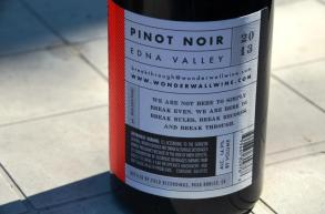 Wonderwall Pinot Noir Back label