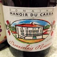 Beaujolais Nouveau Domaine Manoir du Carra 2014