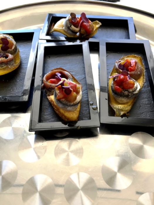 White Anchovy toast