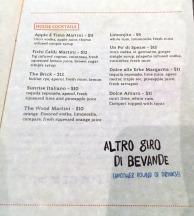 Brick+Wood cocktail list