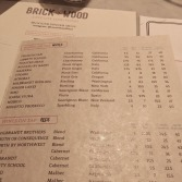 Brick+wood Wine list
