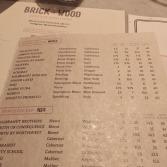 Brick+wood Wine list