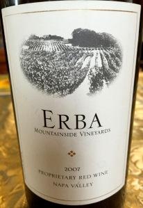 Erba Vineyards Proprietary Red