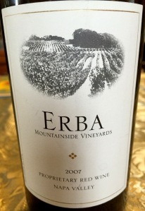 Erba Vineyards Proprietary Red
