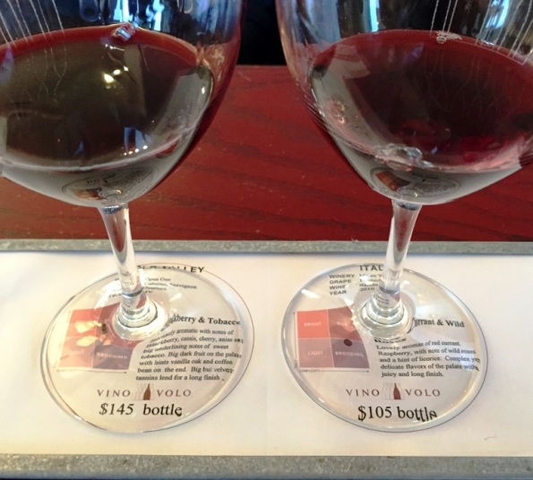 Vino Volo Sommelier flight wines