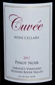 Cuveé Cellars Pinot Noir