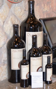 Different format bottles at Duchman Winery