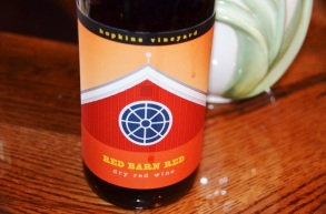 Hopkins Vineyard Red Barn Red