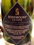 Rosemount Shiraz Cabernet Sauvignon backlabel