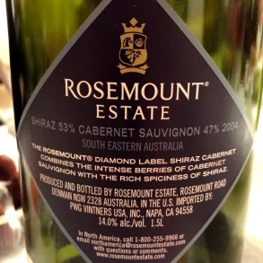 Rosemount Shiraz Cabernet Sauvignon back label