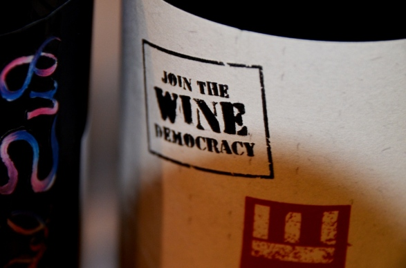 Wine Democracy Stamp