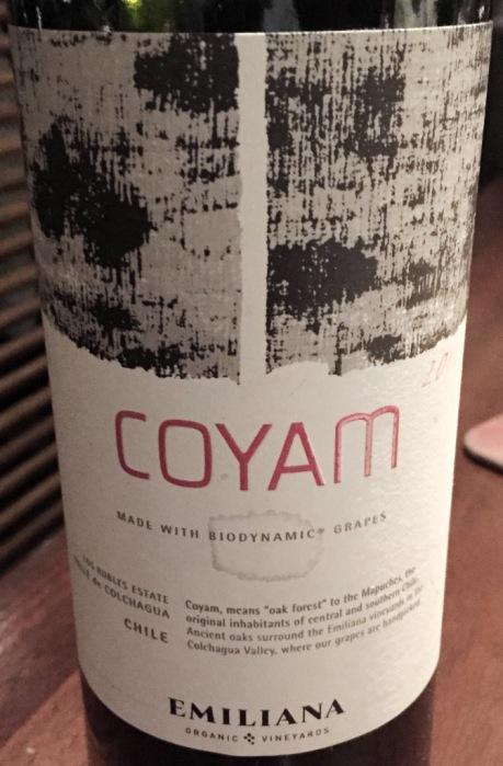 Emiliana Coyam Chile Bidynamic Grapes