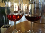 Vintage and 20 years old port glasses at Quinta doTedo