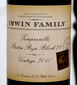 Irwin Family Vineyards Tempranillo