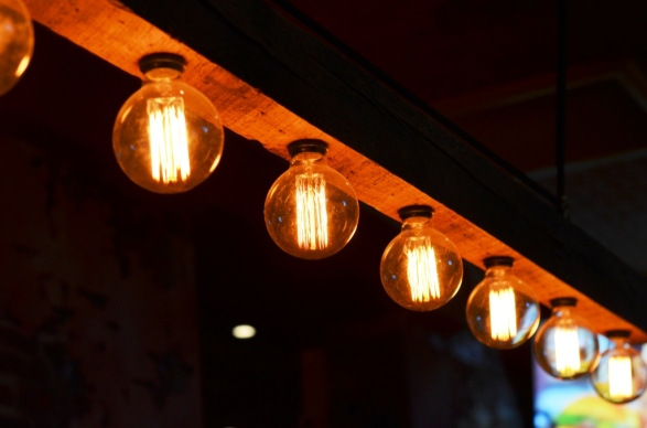 Lighting at Amore Restaurant