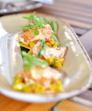 Shrimp Tempura Tostadas