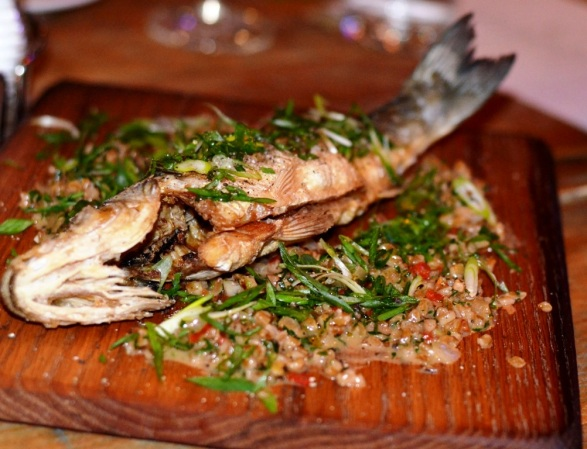 Whole Branzino Roasted and fried