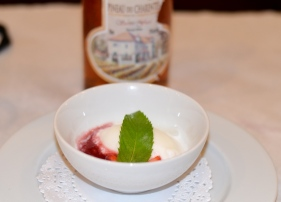 Pineau des Charentes with Cedric's Frozen Yogurt