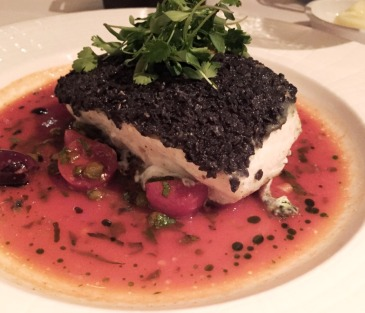 Blue Corn Crusted Halibut Mesa Grill