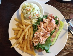Lobster roll at Skipper