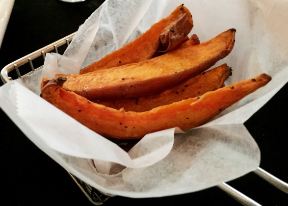 Roasted Sweet Potato Steak Fries