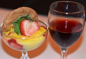 Strawberry Zabaione with Brachetto Brasserie Louis
