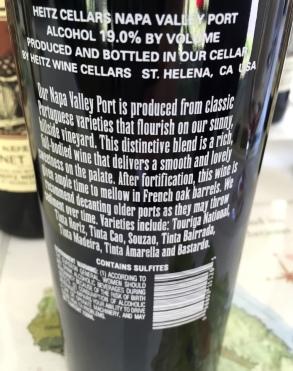Heitz InkGrade Port Back Label