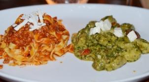 Fettucine alla Bolognese and Gnocchi alla Genovese at Cotto