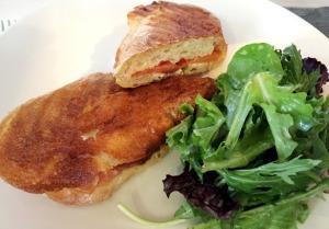Smoked salmon Panini