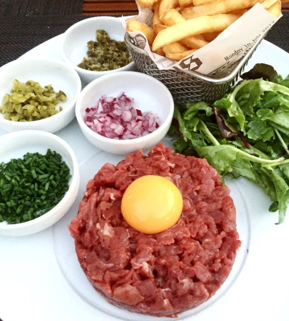 Steak Tartar at Cafe Novotel