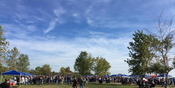Blue skies at the Chowder Fest