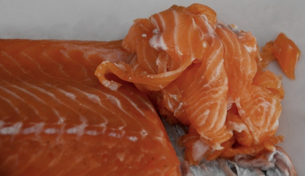 smoked salmon - slice and enjoy!