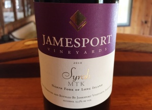 Jamesport Vineyards Syrah