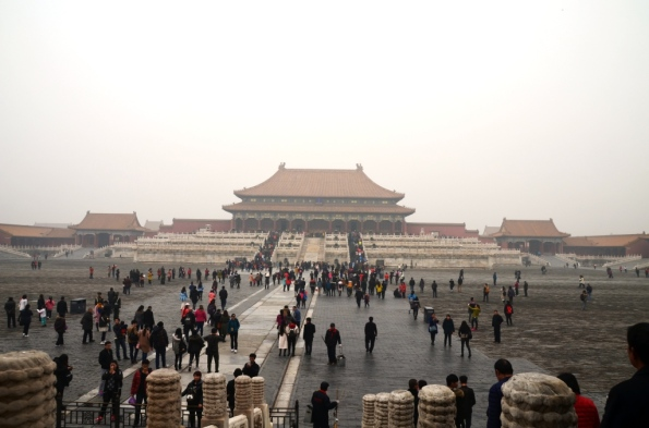 Forbidden City - just the beginning. I wish you could see how many people carry selfies sticks...