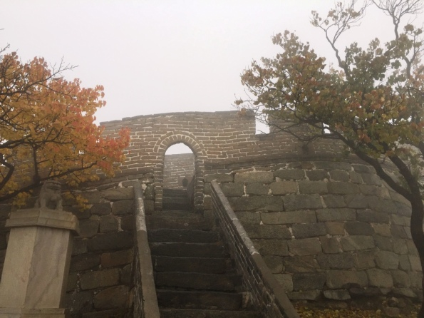 The actual entrance to the very top