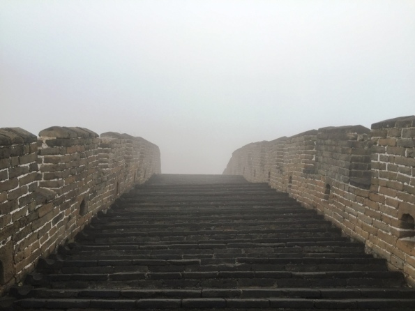 Up and down the Great wall - take a look at the tiny height of the steps - but make sure you pay attention while walking, or else
