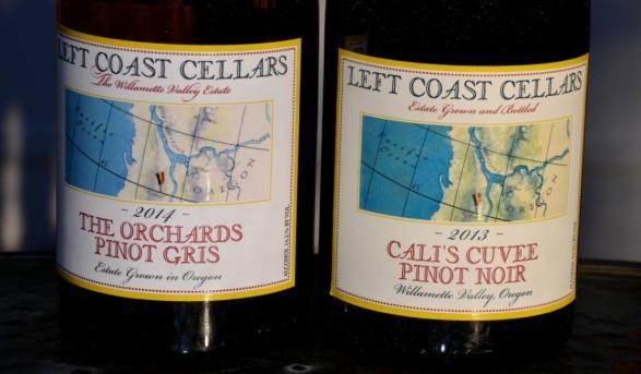 Left Coast Cellars Pinot Gris and Pinot Noir