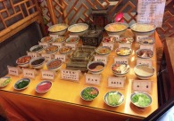 food display at noodle house