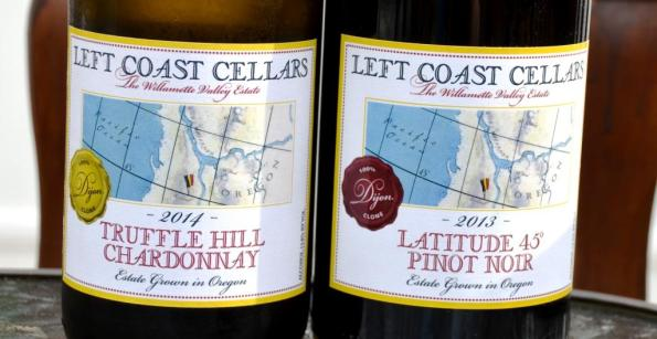Left Coast Cellars Chardonnay and Pinot Noir