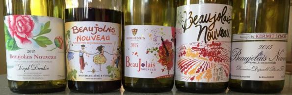 Beaujolais Nouveau wines
