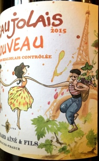 Bouchard Beaujolais Nouveau label side 1