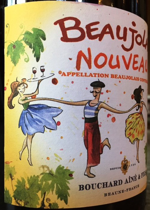 Bouchard Beaujolais Nouveau label side 2