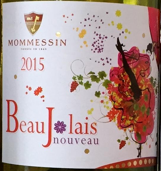 Mommessin Beaujolais Nouveau label
