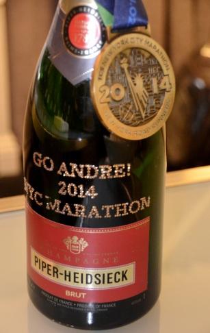 Piper-Heidsieck dedication to NYC Marathon