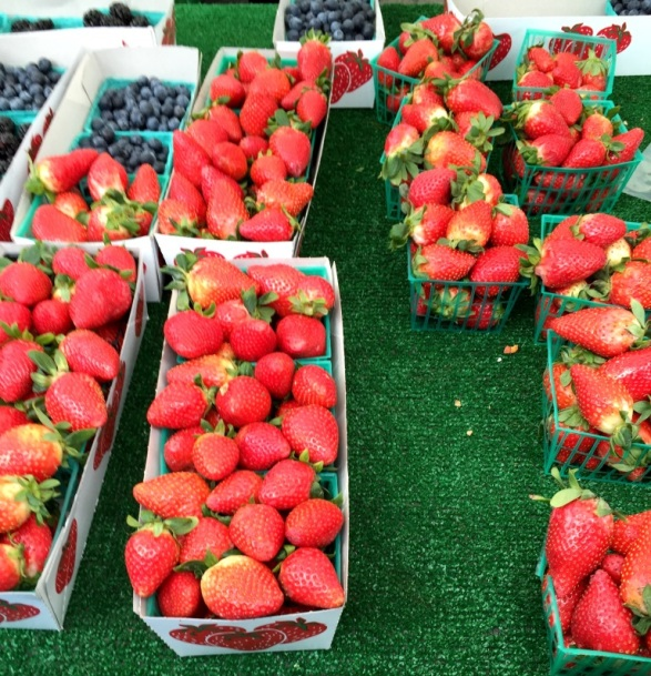 strawberries - I wish you could smell them