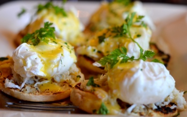 Crab Egg's Benedict at Noir Stamford