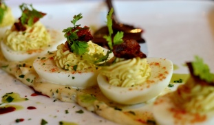 Devilled Eggs at Noir Stamford