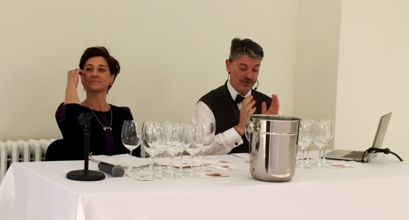 "Marco Sabellico Senior Editor Gambero Rosso, Eleonora Guerini, Curator of the guide ""The Wines of Italy"" by Gambero Rosso"