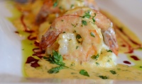 Shrimp and grits at Noir Stamford