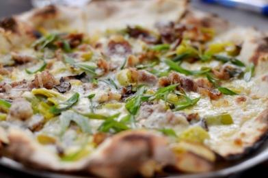Funghi Pizza at Marta NYC